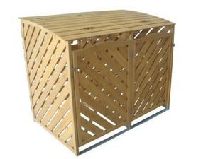 TrendLine Mülltonnenbox aus Holz ,  für 2 x 240 Liter