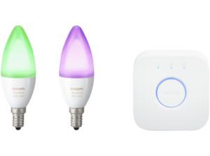 PHILIPS Hue White & Color Ambiance, LED Leuchtmittel inkl. Bridge, 6.5 Watt, E14