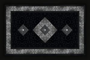 Fußmatte Mosaik Schwarz/silber 40x60cm