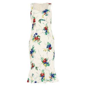 Phase Eight Damen Trägerkleid Bethania mit floralem Muster, creme, 40