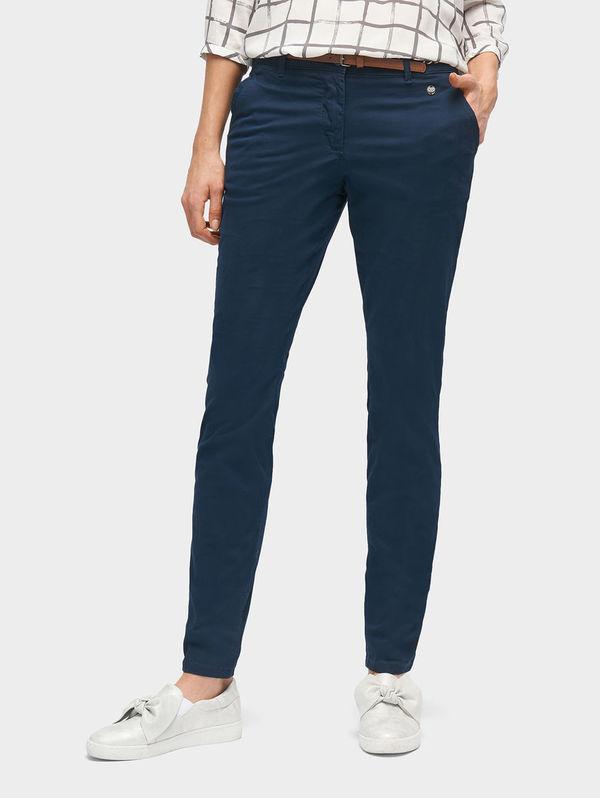 Tom Tailor Pants   Trousers Chino Slim mit Gürtel, real navy blue, 34 30.  Karstadt 3d33d12343