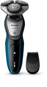 Philips Herrenrasierer S5420/06 ,  AquaTouch, schwarz/blau