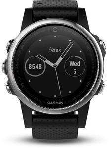 Garmin Smart Watch fenix 5S ,  silber/schwarz