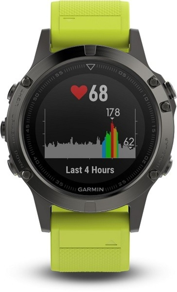 Garmin Smart Watch fenix 5 ,  grau/gelb