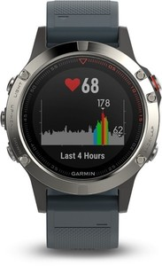 Garmin Smart Watch fenix 5 ,  silber/blau