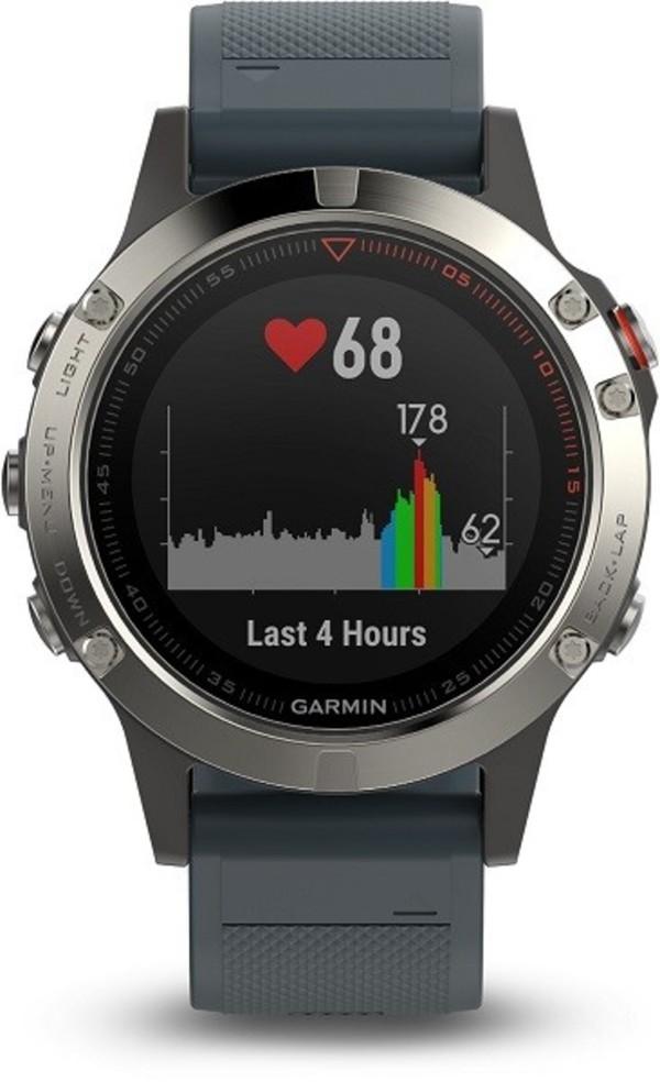 Garmin Smart Watch fenix 5 ,  silber/blau