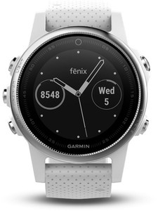 Garmin Smart Watch fenix 5S ,  silber/weiß