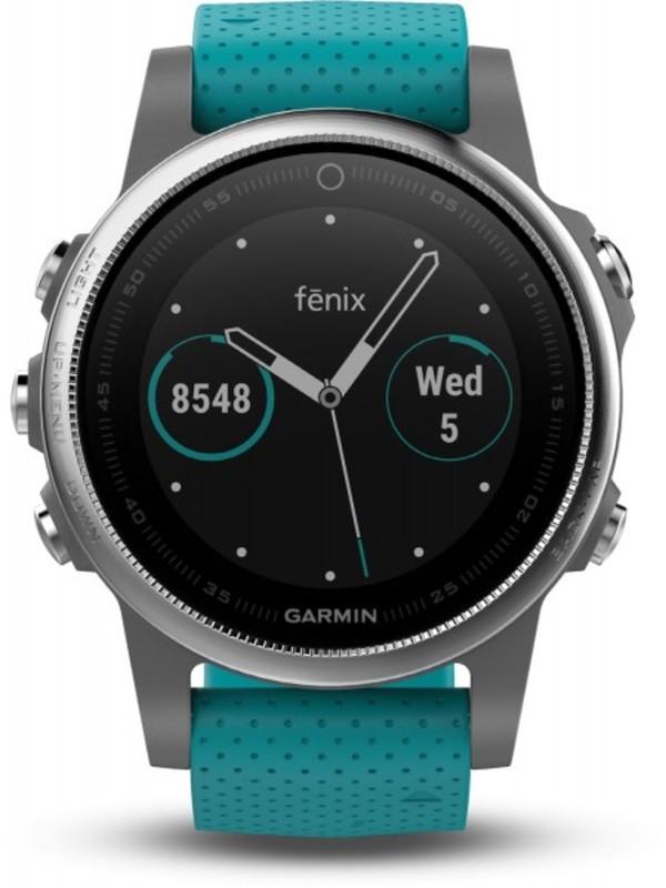 Garmin Smart Watch fenix 5S ,  silber/türkis