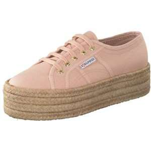 Superga Cotropew Plateau Sneaker Damen rosa