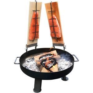 acerto® Feuerschale 80cm + 2x Flammlachsbrett