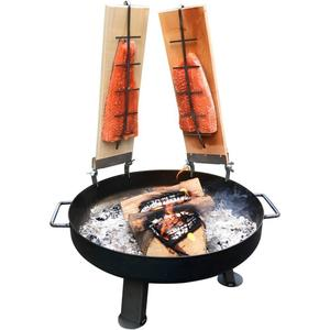 acerto® Feuerschale 55cm + 2x Flammlachsbrett