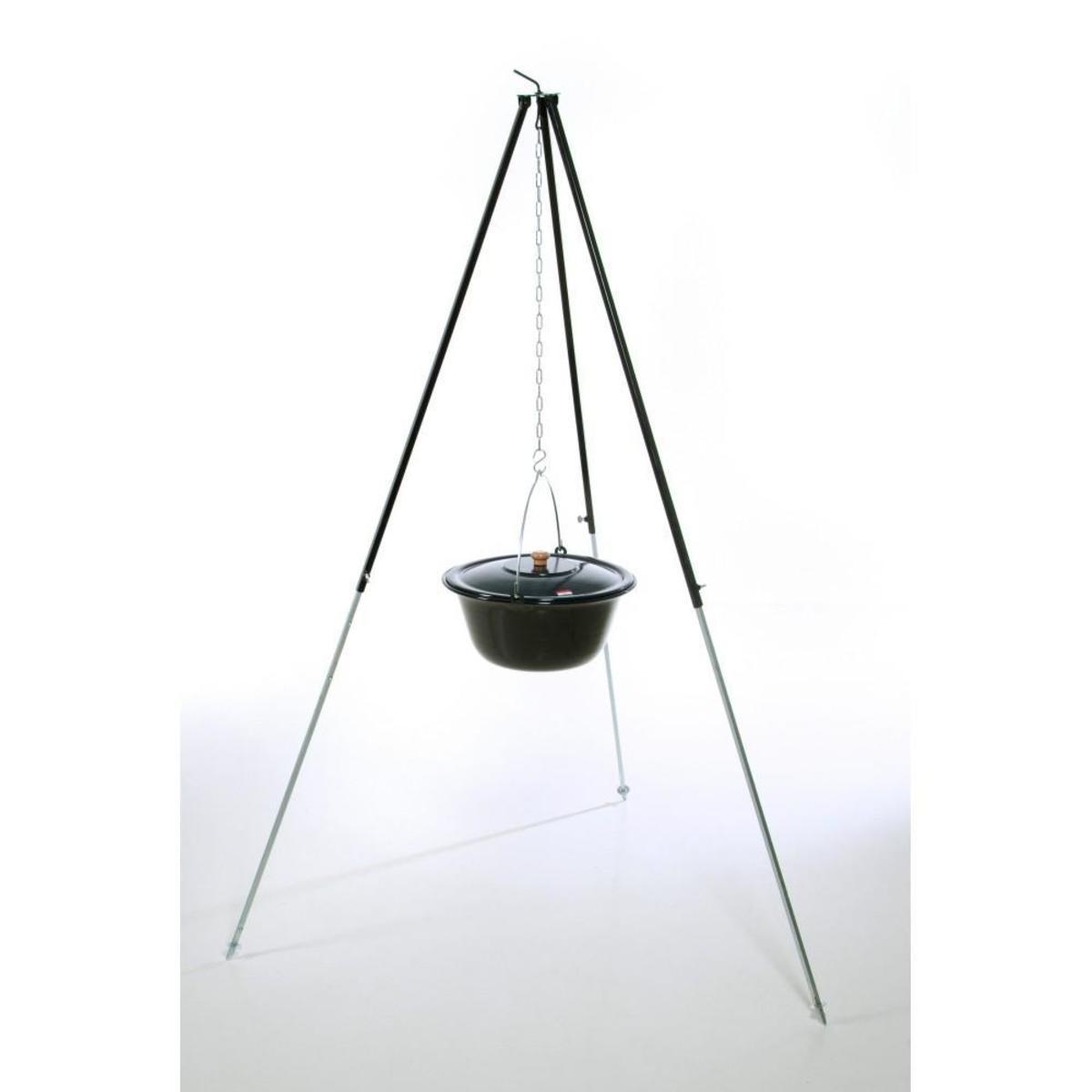 Bild 1 von acerto® Gulaschkessel 22 Liter + Dreibein 180cm
