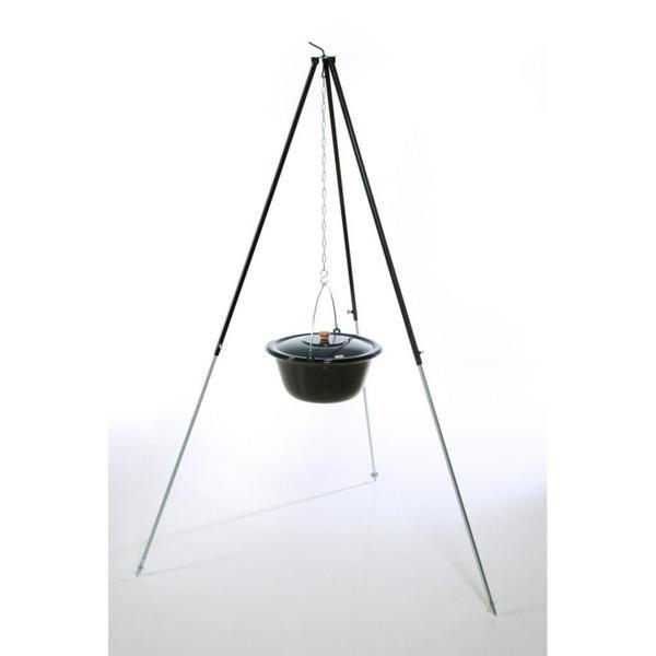 acerto® Gulaschkessel 22 Liter + Dreibein 180cm
