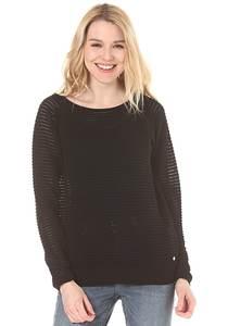 Bench Knitted Mesh Crew - Strickpullover für Damen - Schwarz