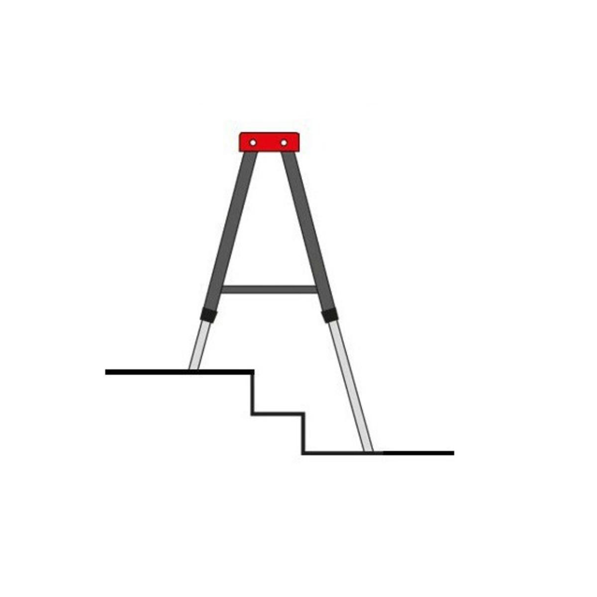 Bild 2 von Kraft Werkzeuge Vario-Arbeitsbock, höhenverstellbar, 2er-Set