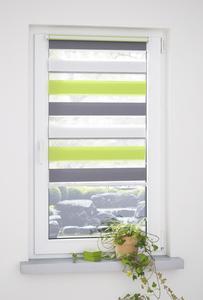 Bella Casa Klemmfix Duo-Rollo mini dreifarbig 160 x 120 (H x B) grün/grau/weiß