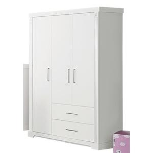 Kleiderschrank Nachbildung Weiß ca. 134 x 192 x 55 cm