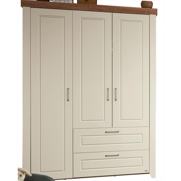 Kleiderschrank Nachbildung Braun Weiss Ca 139 X 199 X 53 Cm Von