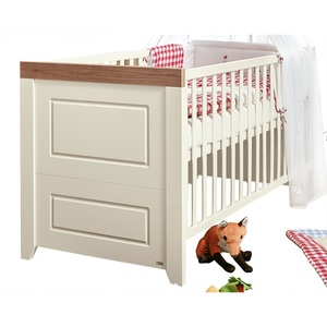 Kinderbett Nachbildung Braun/Weiß ca. 70 x 140 cm