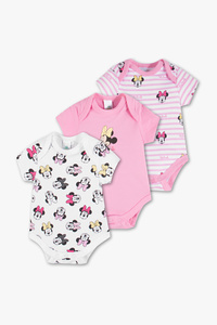 Disney Baby         Minnie Maus - Baby-Body - Bio-Baumwolle - 3er Pack