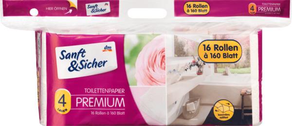 Sanft&Sicher Toilettenpapier 4lg 16x160 Blatt