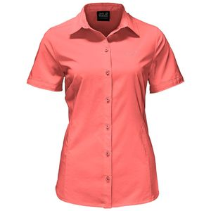 Jack Wolfskin Bluse Sono Shirt Women L rot