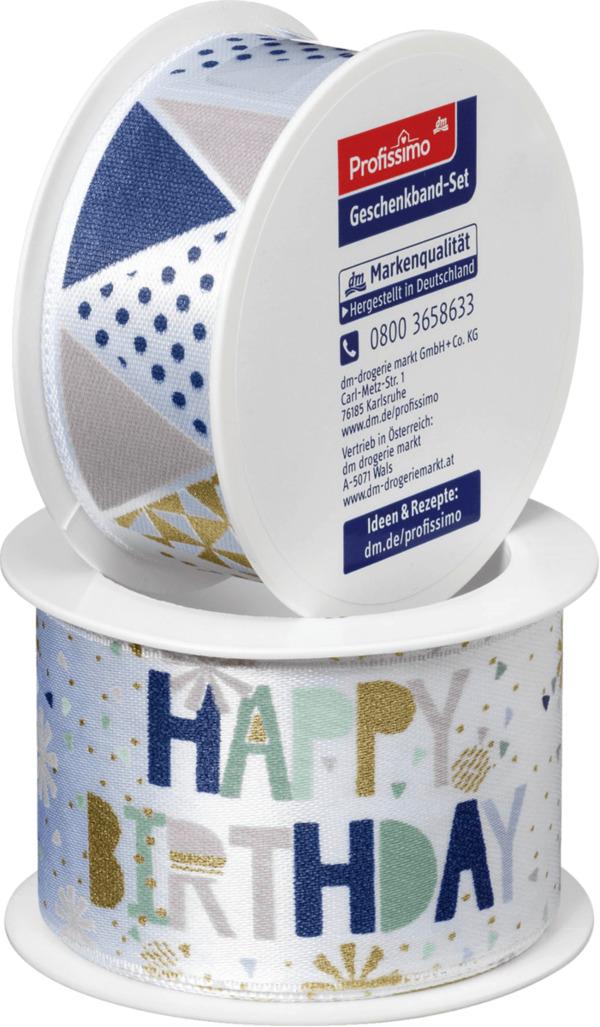 profissimo geschenkband-set happy birthday von dm ansehen!