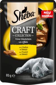 Sheba Nassfutter für Katzen, Craft Collection, Feine Stückchen mit Huhn