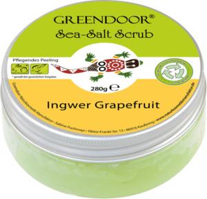 Greendoor Sea Salt Scrub Ingwer + Grapefruit