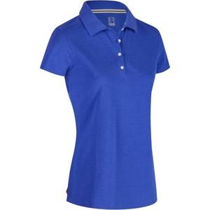 INESIS Golf Poloshirt 500 Kurzarm Damen blau meliert, Größe: 2XL