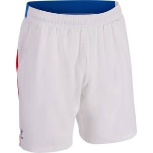 ARTENGO Tennis-Shorts Dry 500 Herren weiß / blau / rot, Größe: M