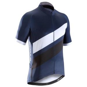 B´TWIN Kurzarm-Radtrikot Rennrad 500 Herren marineblau/weiß, Größe: S