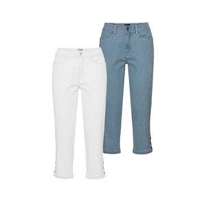 Laura Torelli Classic Damen-Jeans mit Zierknöpfen