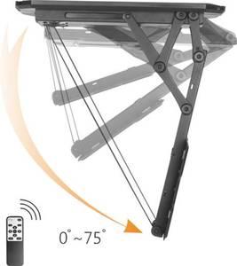 """TV-Deckenhalterung 58,4 cm (23"""") - 139,7 cm (55"""") Neigbar, Motorisiert SpeaKa Professional Mit Fernbedienung, Ausziehbar"""