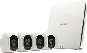 Netgear                     VMS3430-100EUS Arlo Smart Home 4 HD-Kamera-Sicherheitssystem                                             Weiss