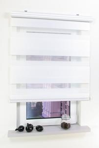 Bella Casa Duo-Rollo mit Kasette, Rollo, 160 x 100 cm (Höhe x Breite) weiß