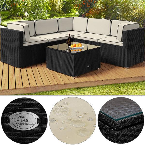 polyrattan lounge set schwarz, deuba polyrattan lounge set medium schwarz/creme 20-tlg. von norma, Design ideen