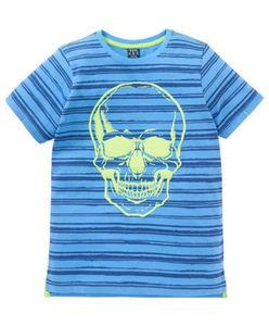 T-Shirt - gestreift, Totenkopf