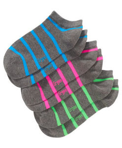 Ergee - Sneakersocken - Neon, gestreift - 3er-Pack