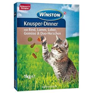 Winston Knusper-Dinner mit Rind, Lamm, Leber, Gemüse & Duo-Herzchen