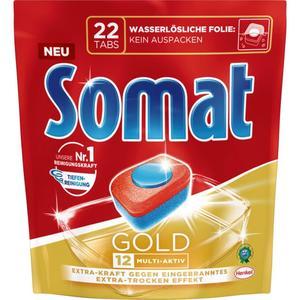 Somat Gold Geschirrspültabs: 12 Multi-Aktiv 10.11 EUR/1 kg