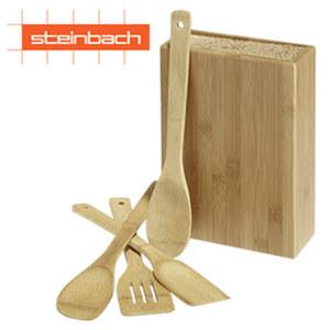 """Universal-Messerblock """"Menario"""" - aus Bambus - mit flexiblen und klingenschonenden Borsten"""