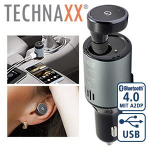 USB-Ladegerät mit Bluetooth-Freisprecheinrichtung einfache 1-Tasten Bedienung, Laufzeit Ohrstecker: max. 2,5 h Sprechzeit / max. 40 h Stand-by