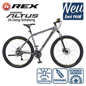 Alu-Mountainbike Graveler 8000 29er - Rapid-Fire-Schalthebel - Zoom Federgabel verstellbar - mechanische Scheibenbremsen - REX Alu-A-Head Vorbau - Rahmenhöhe: 50 cm, Preis für vormontierte Räder