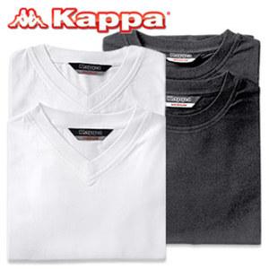 T-Shirt 95 % Baumwolle/5 % Elasthan, Rundhals oder V-Neck, schwarz oder weiß, Größe: S - XXL, je