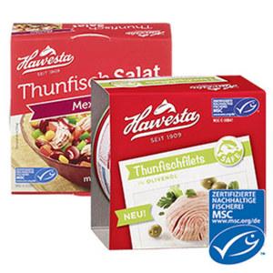 Hawesta MSC Thunfischprodukte jede 160/185-g-Dose