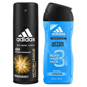 adidas Deo-Spray/Duschgel oder Playboy Duschgel versch. Sorten, jede 150-ml-Dose