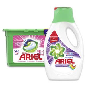 Ariel Waschmittel 16/18/20 Waschladungen, versch.Sorten, jede Packung/Flasche