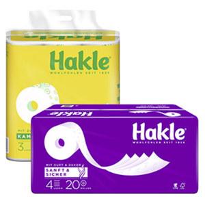 Hakle Toilettenpapier versch. Sorten, jede 20/24er-Packung