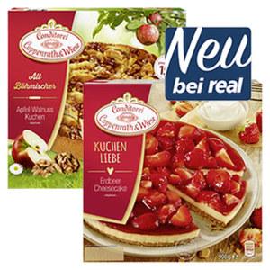 Coppenrath & Wiese Alt-Böhmische Kuchen oder Kuchenliebe gefroren, versch. Sorten,  jede 900/1100-g-Packung